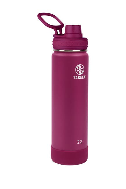 Image of Takeya Wine Actives Insulated 22 oz. Spout Lid Stainless Steel Bottle