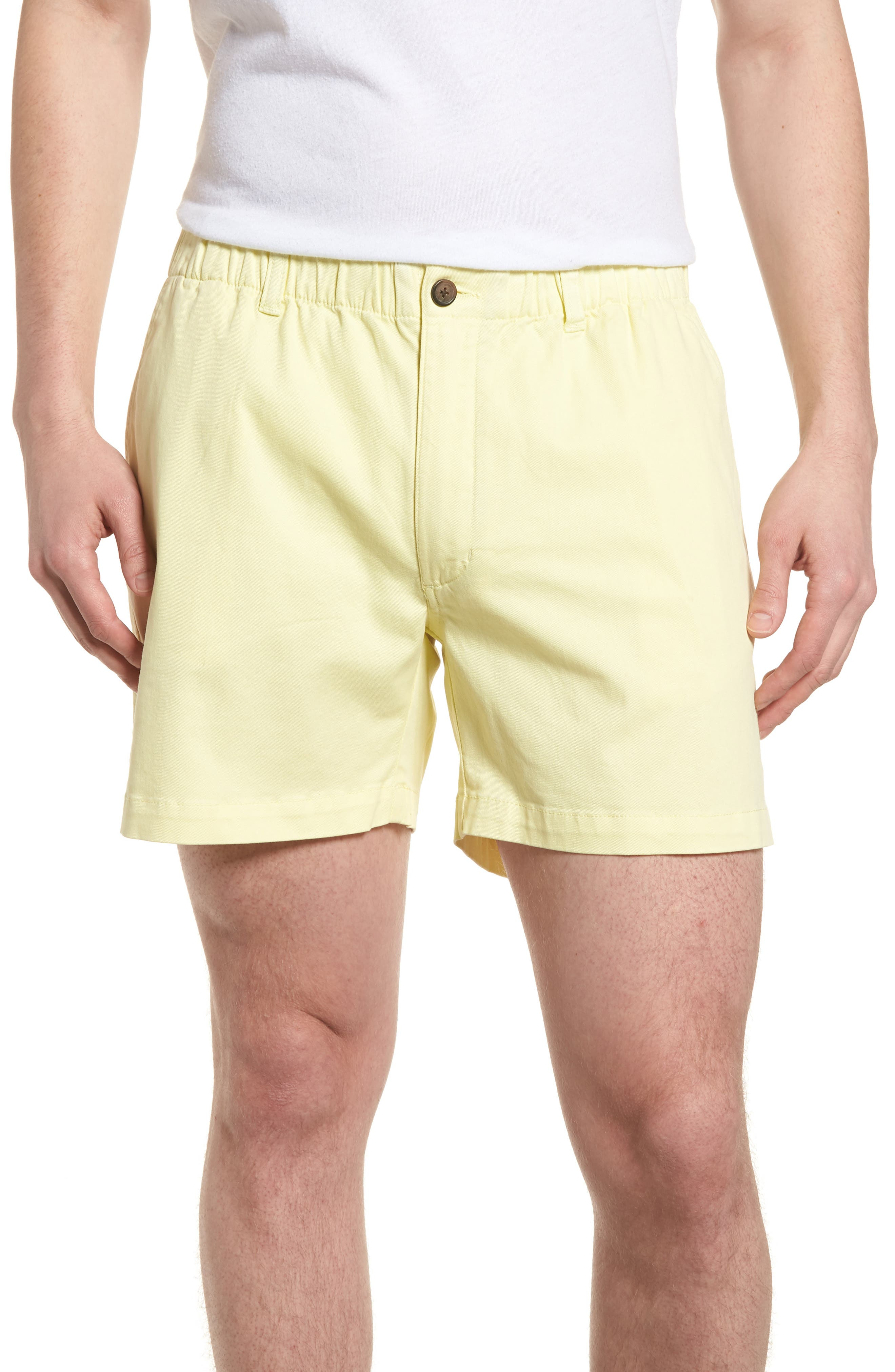 Vintage Style Mens Shorts Mens Vintage 1946 Snappers Elastic Waist Shorts Size XX-Large - Yellow $55.00 AT vintagedancer.com