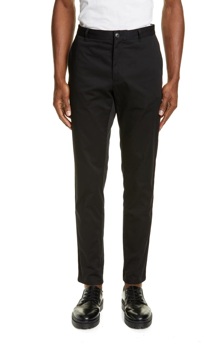 BURBERRY Shibden Slim Fit Chino Pants, Main, color, BLACK