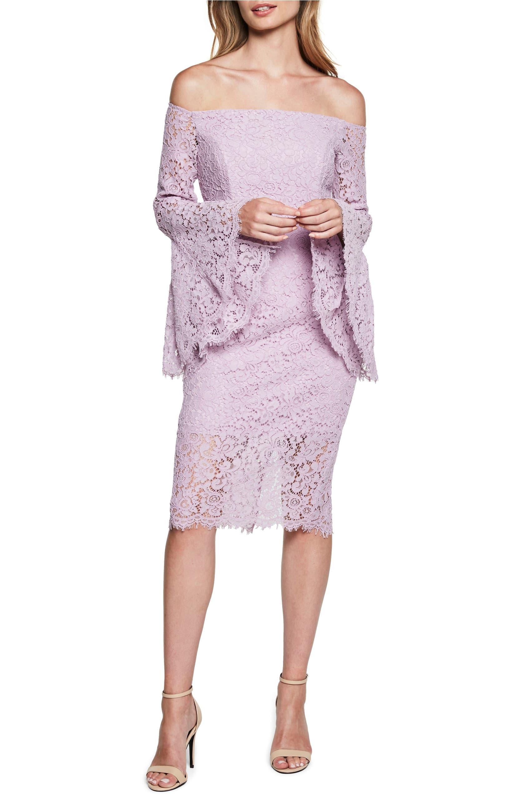 ca921d9b Bardot Solange Corded Lace Sheath Dress | Nordstrom