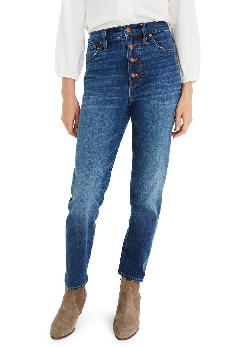 MADEWELL The Perfect Vintage Jean: Button Front Edition, Main, color, BARNSDALE WASH
