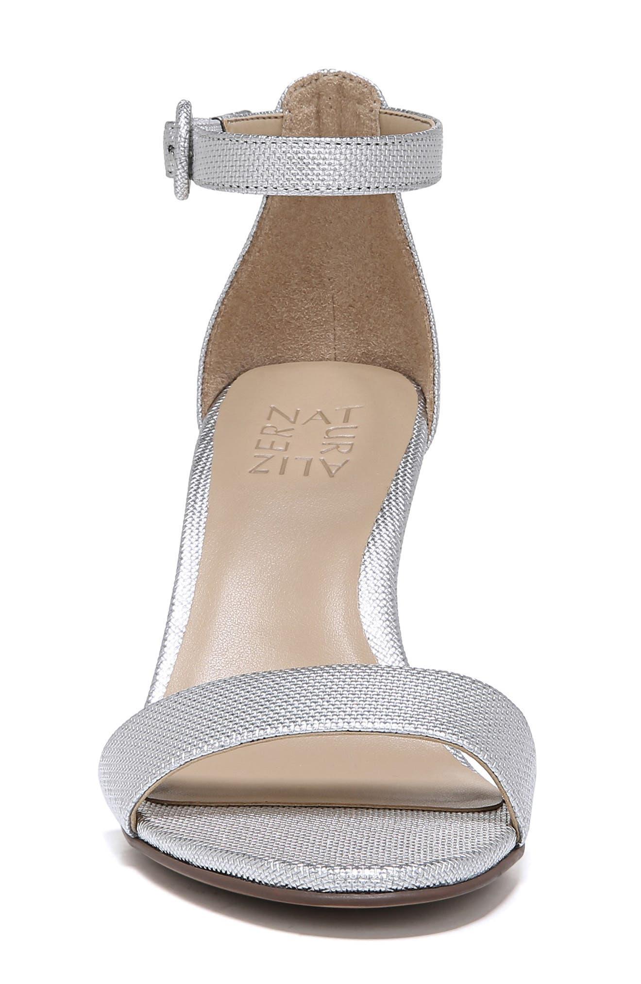 ,                             Kinsley Ankle Strap Sandal,                             Alternate thumbnail 4, color,                             SILVER