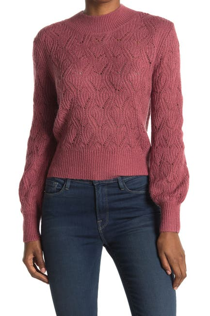 Image of Heartloom Gauge Knit Puff Sleeve Sweater