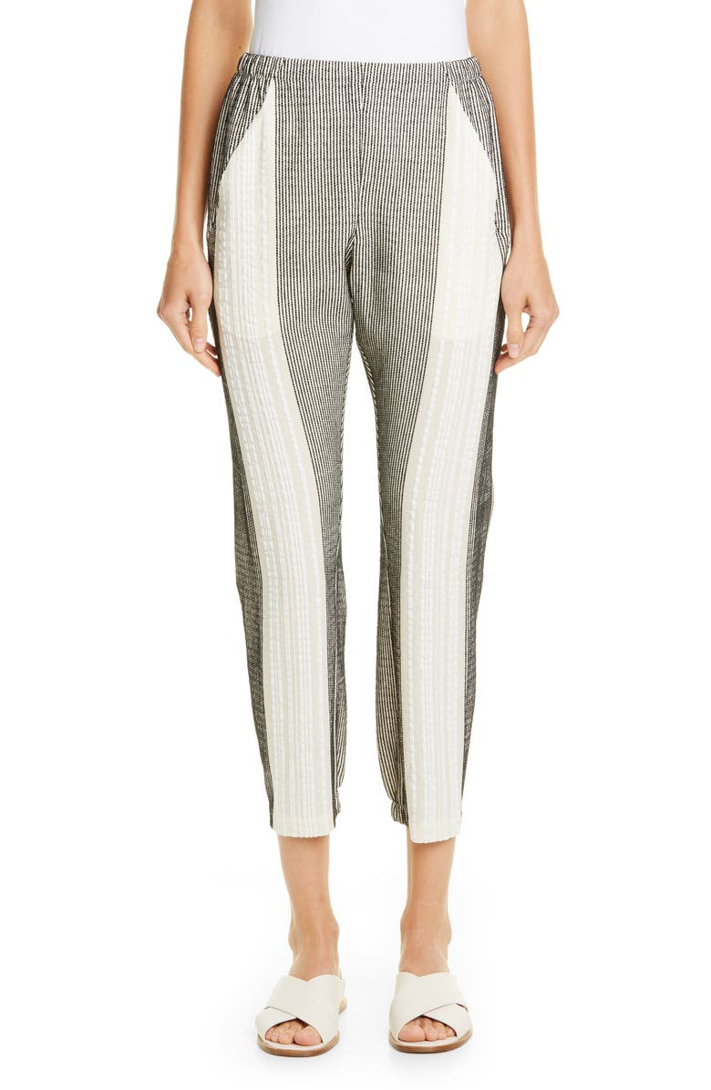 ZERO + MARIA CORNEJO Gabi Cadeo Trousers, Main, color, BLACK/ GREIGE