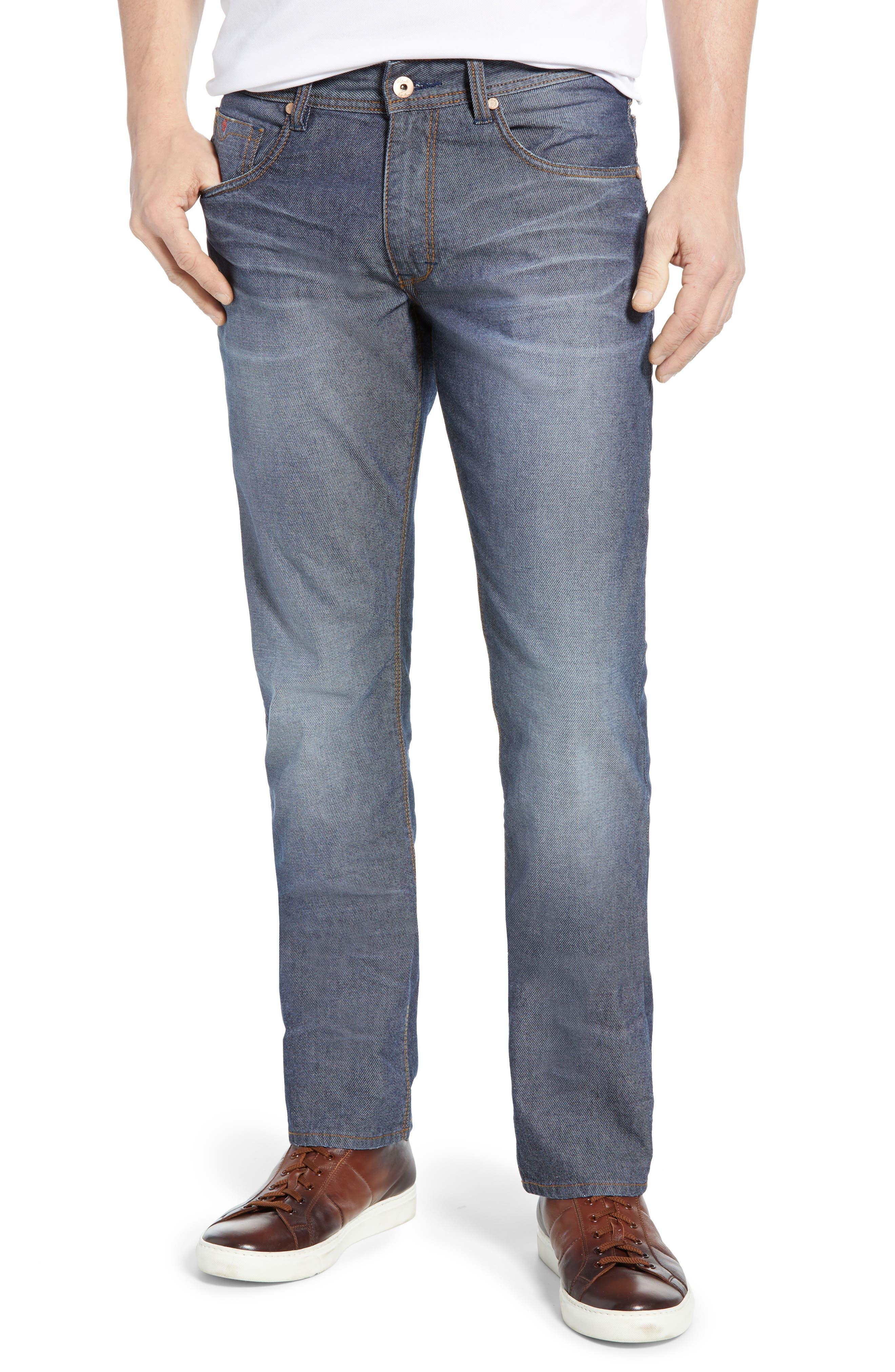 Loder Regular Fit Jeans, Main, color, INDIGO