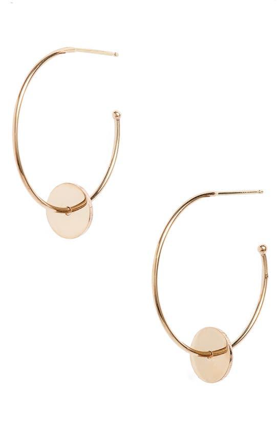 Zoë Chicco Washer Hoop Earrings In Yellow Gold