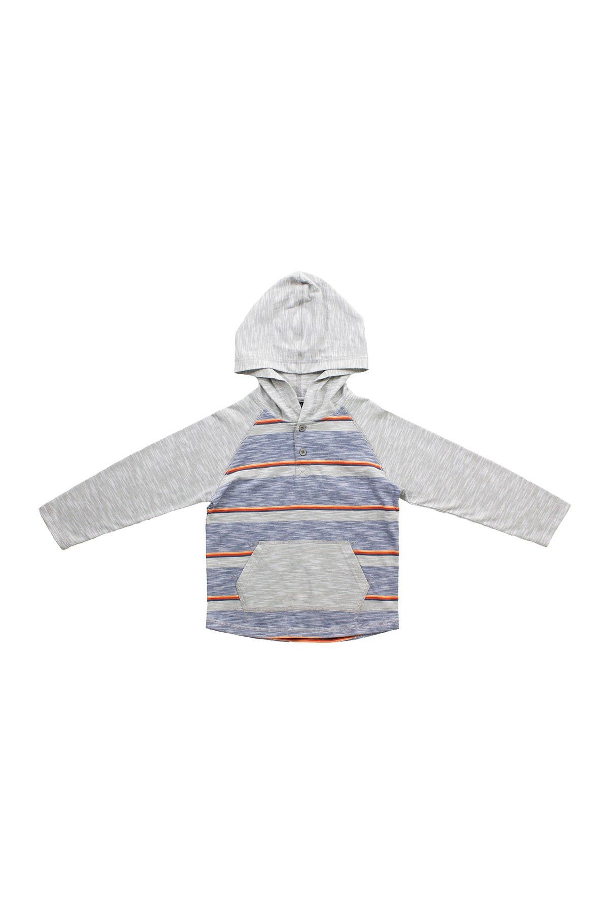Image of BEAR CAMP Striped Hooded Henley Tee