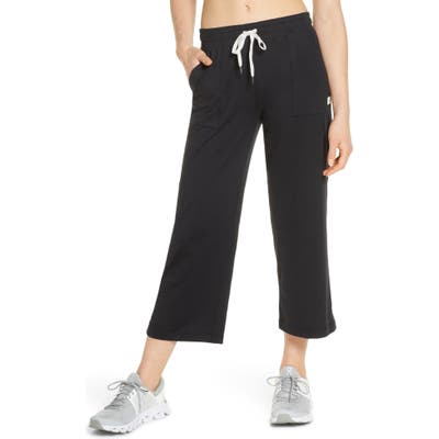 Vuori Lunar Crop Sweatpants, Black