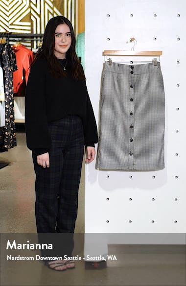 Check Button Front Skirt, sales video thumbnail