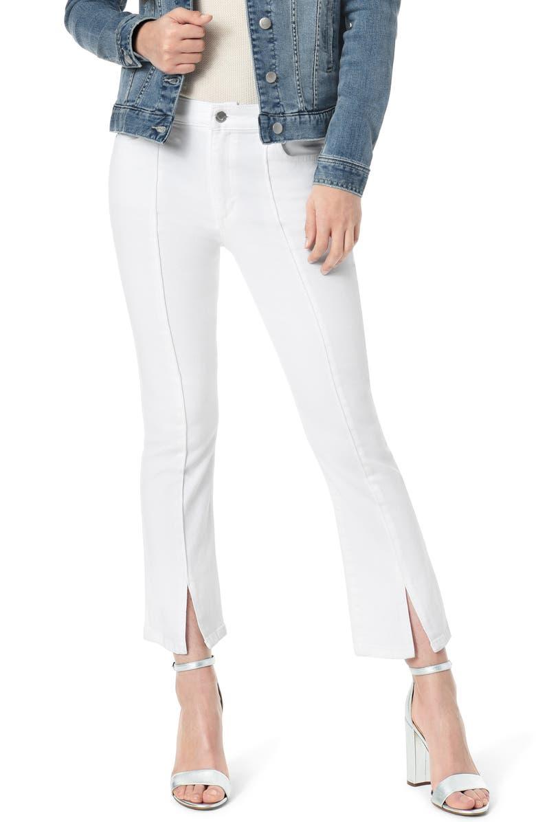 JOE'S The Callie High Waist Slit Hem Crop Bootcut Jeans, Main, color, ELLA