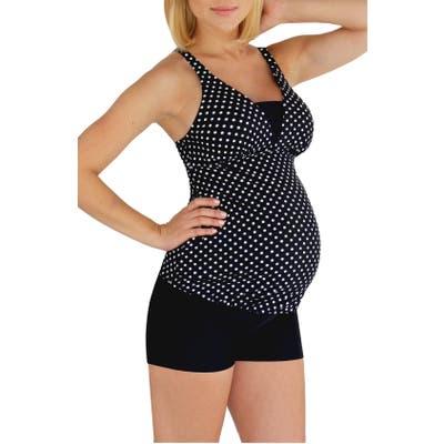 Mermaid Maternity Polka Dot Tankini Top
