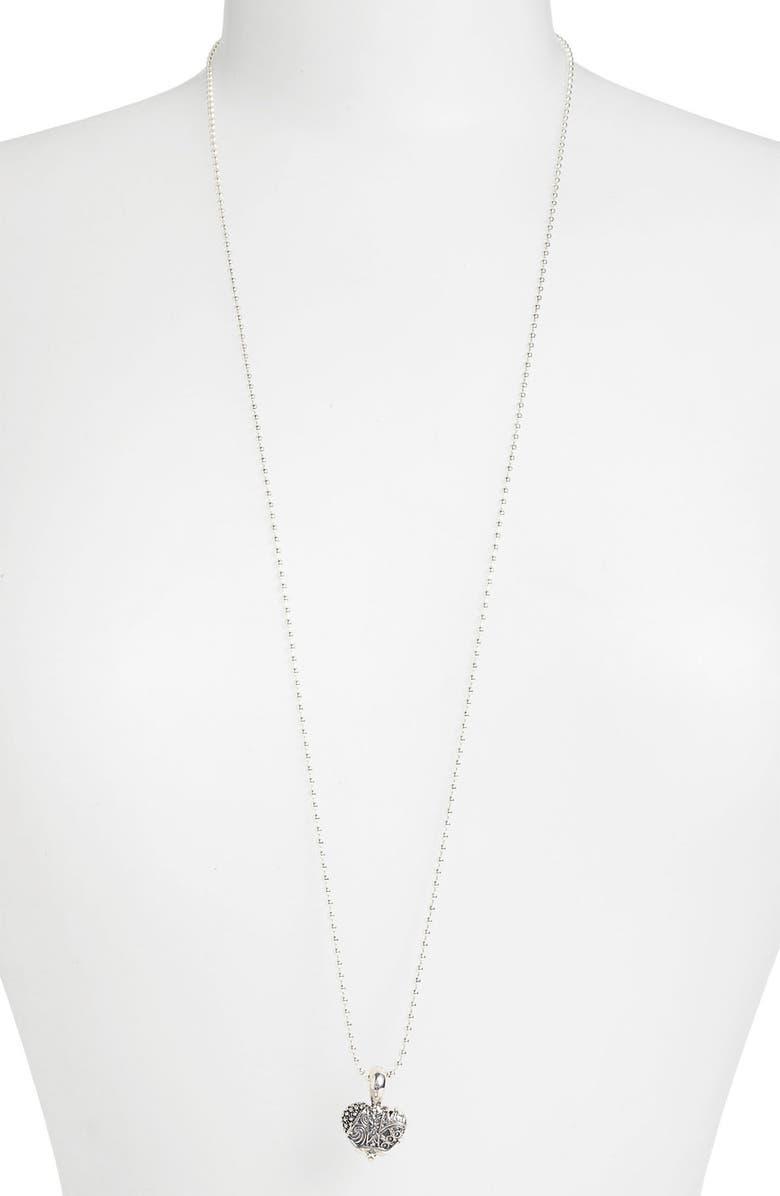 LAGOS Hearts of Lagos - Texas Long Pendant Necklace, Main, color, HEART OF TEXAS