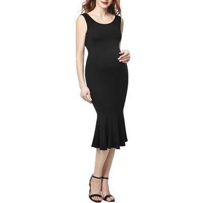 Kimi And Kai Bria Maternity Mermaid Midi Dress, Black