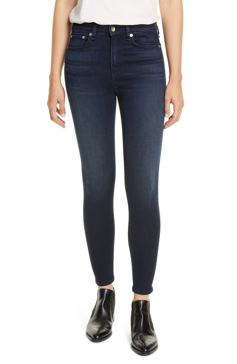 RAG & BONE Nina High Waist Ankle Skinny Jeans, Main, color, ETTA