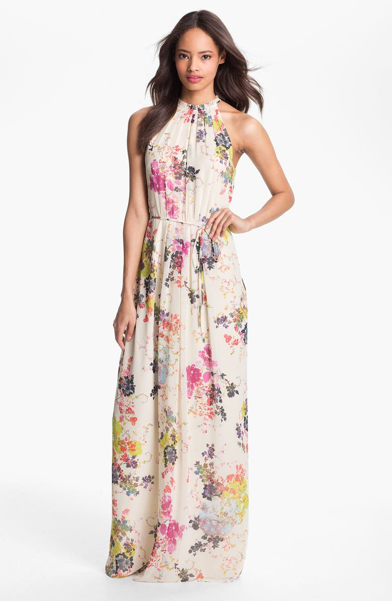 TED BAKER LONDON 'Summer Bloom' Print Maxi Dress, Main, color, 900