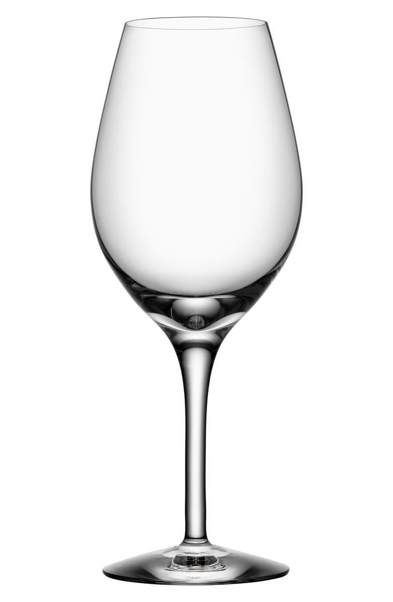 ORREFORS More Set of 4 Wine Glasses, Main, color, WHITE