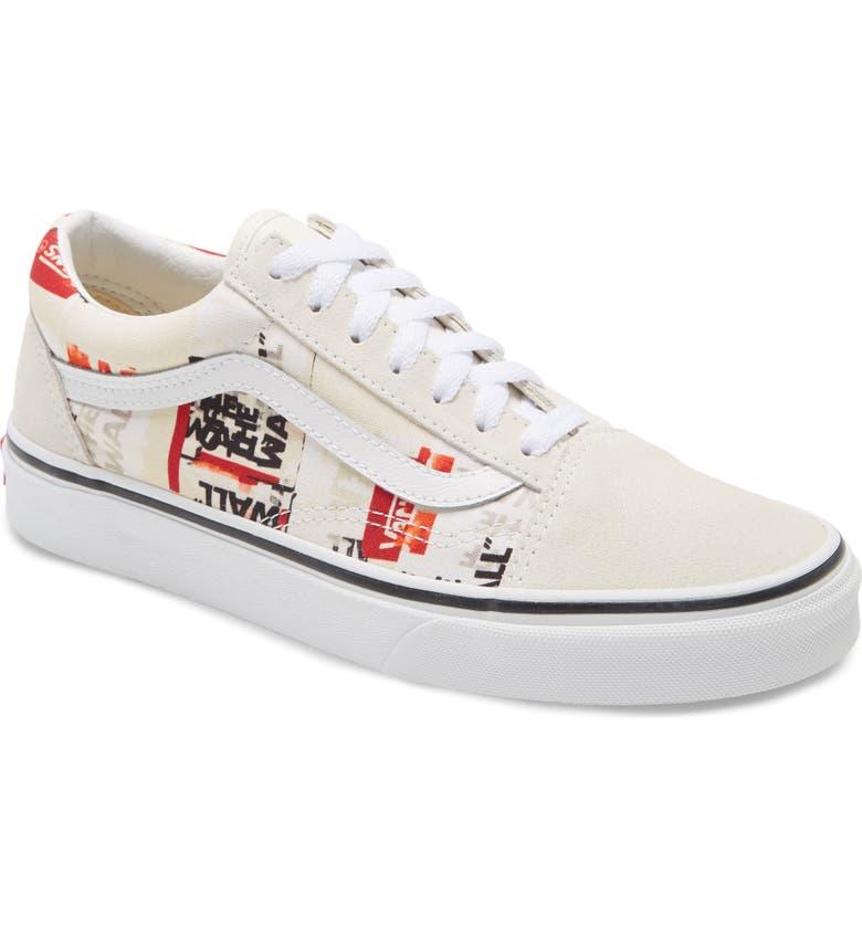 VANS 'Old Skool' Skate Sneaker, Main, color, BLANC DE BLANC/ TRUE WHITE