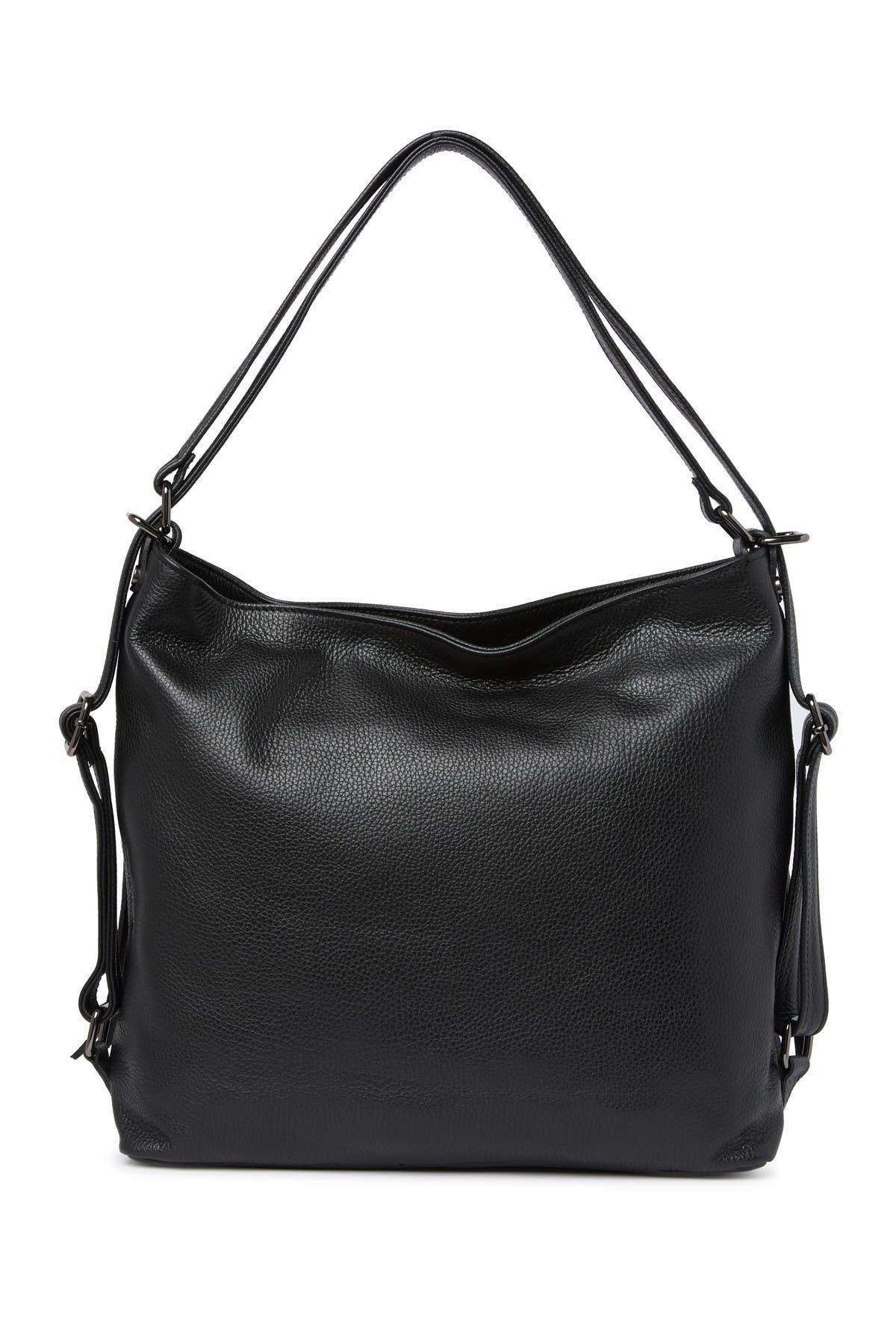 Image of Giulia Massari Leather Top Handle Shoulder Bag
