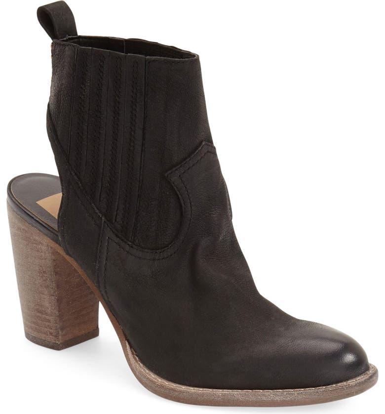 DOLCE VITA 'Jasper' Open Heel Bootie, Main, color, 001