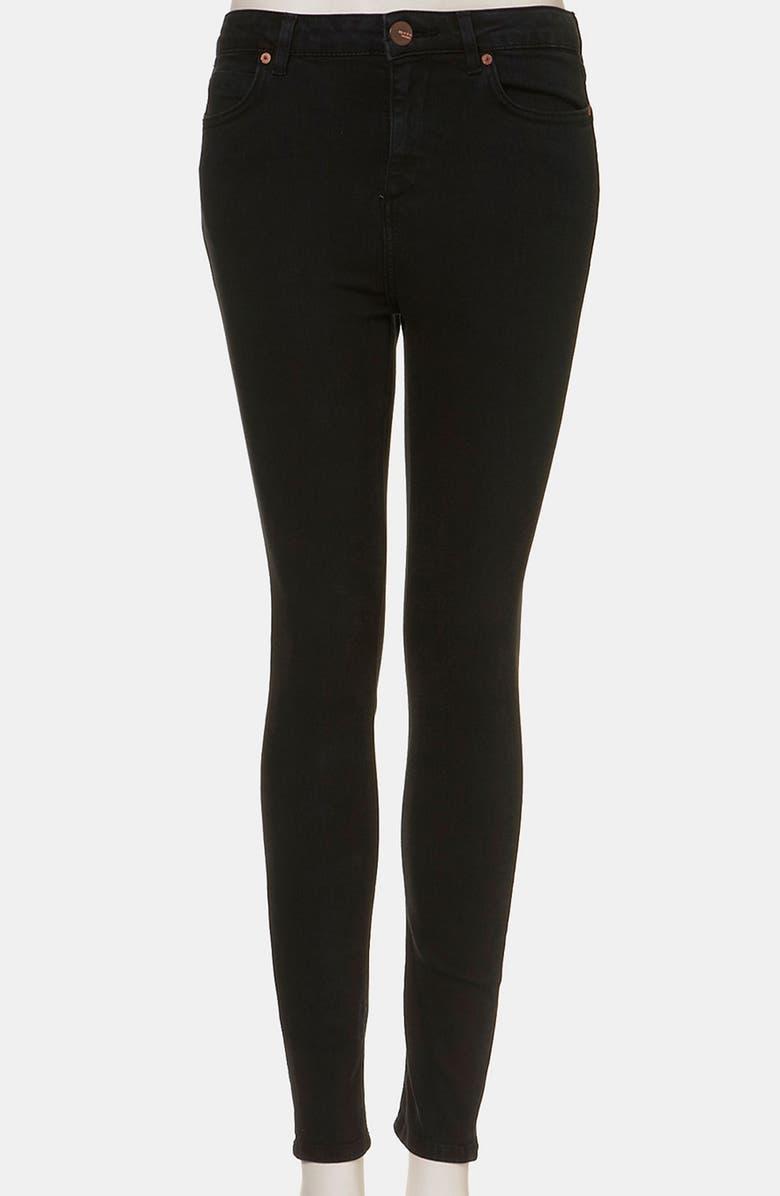 TOPSHOP Moto 'Jamie' High Waist Skinny Jeans, Main, color, 001