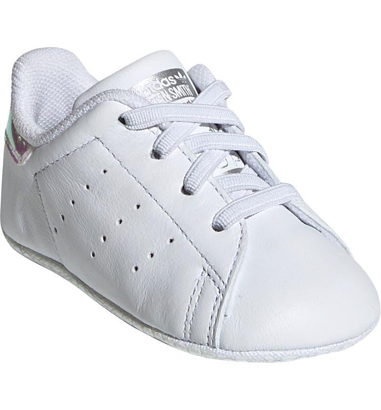 ADIDAS Stan Smith Crib Sneaker, Main, color, WHITE/ SILVER METAL