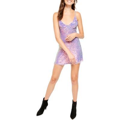Free People Gold Rush Minidress, Purple