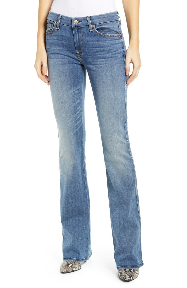 7 FOR ALL MANKIND<SUP>®</SUP> A-Pocket Flare Jeans, Main, color, PRETTY MEDIUM VINTAGE