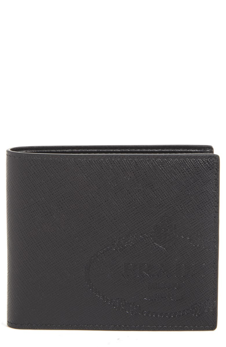 beac6429 Saffiano Leather Bifold Wallet