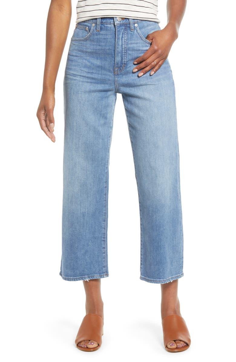 MADEWELL Slim Wide Leg Jeans, Main, color, GARRETT WASH