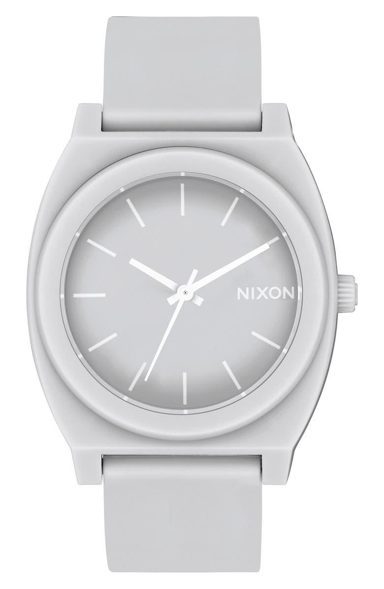 NIXON Time Teller P Polyurethane Strap Watch, 40mm, Main, color, 020