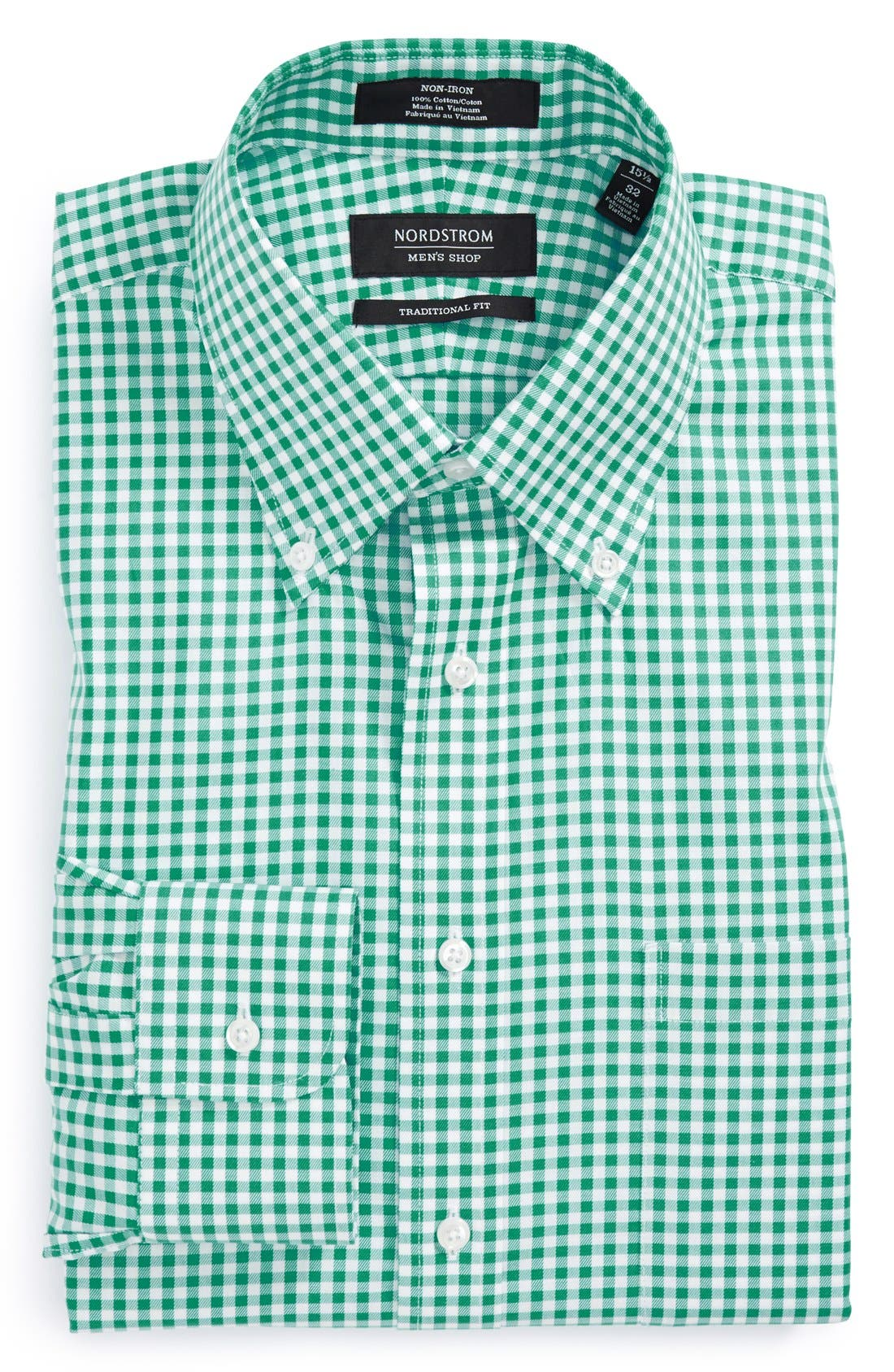 ,                             Traditional Fit Non-Iron Gingham Dress Shirt,                             Main thumbnail 49, color,                             311