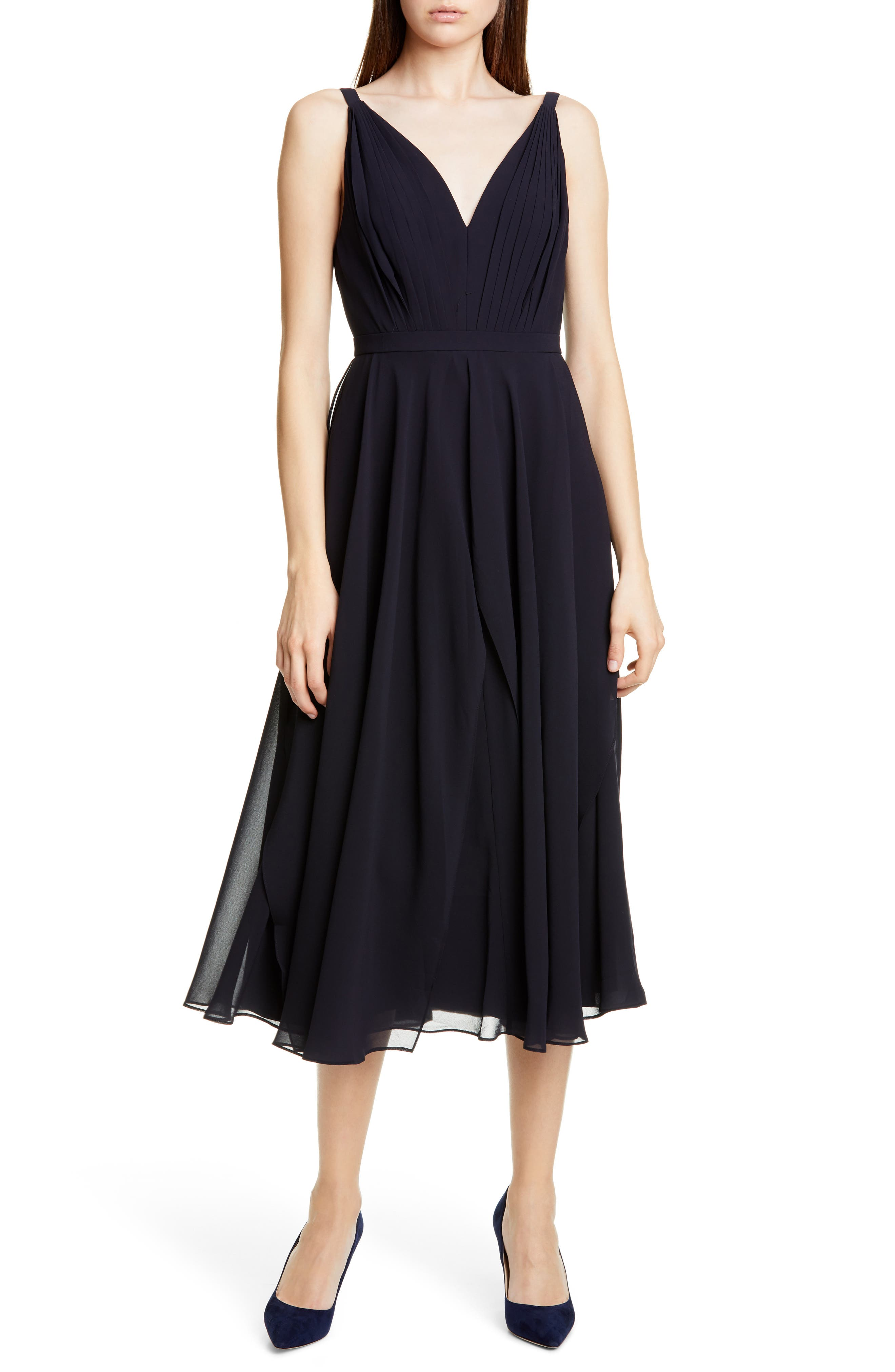 Ted Baker London Celeyst Georgette Midi Dress, Blue