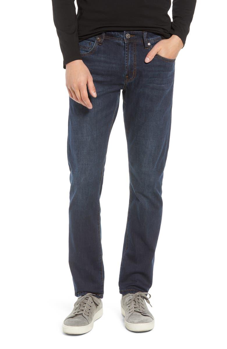 LIVERPOOL Kingston Slim Straight Leg Jeans, Main, color, NORCROSS DARK