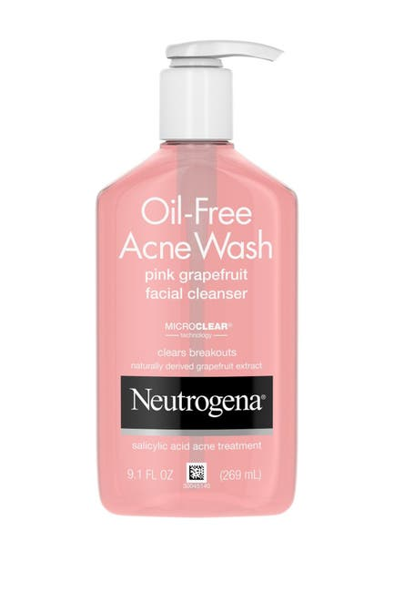Image of Neutrogena Oil Free Acne Wash Pink Grapefruit Facial Cleanser