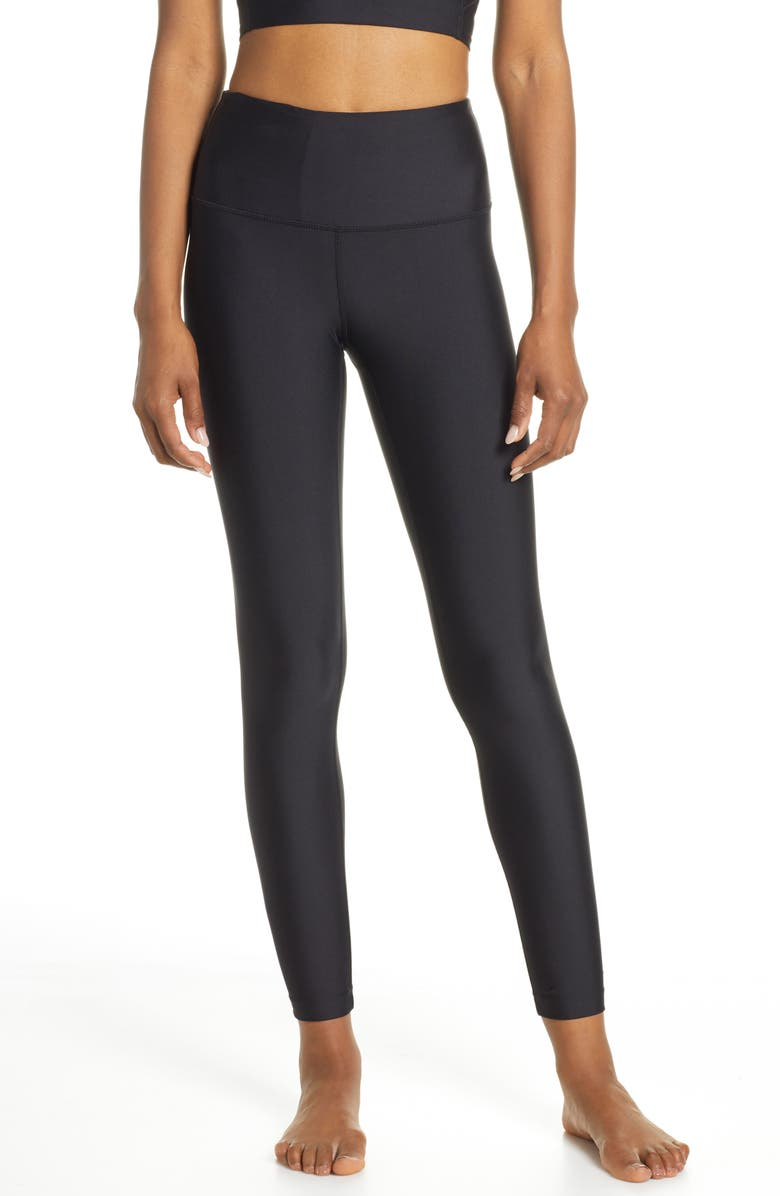 ZELLA Stardust High Waist Ankle Leggings, Main, color, 001