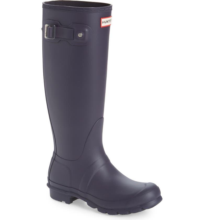 HUNTER Original Tall Waterproof Rain Boot, Main, color, AUBERGINE PURPLE