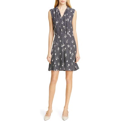 Tailored By Rebecca Taylor Wildflower Print Sleeveless Silk Dress, Blue