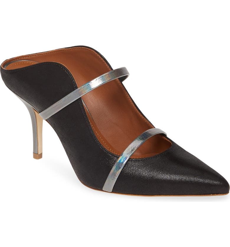 MALONE SOULIERS Maureen Double Band Mule, Main, color, BLACK SIAM