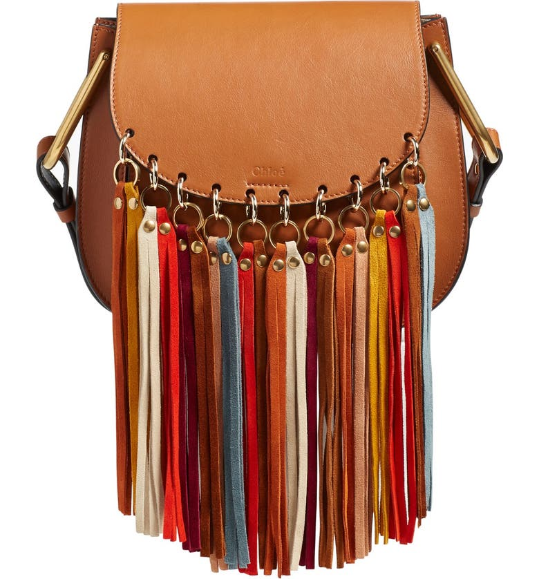 7f2bc8766535e 'Small Hudson' Suede Tassels Leather Shoulder Bag, Main, color, ...