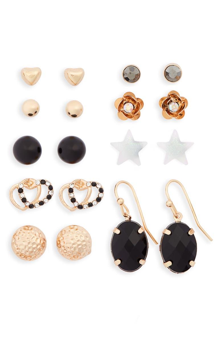 BP. 9-Pack Earrings, Main, color, 710