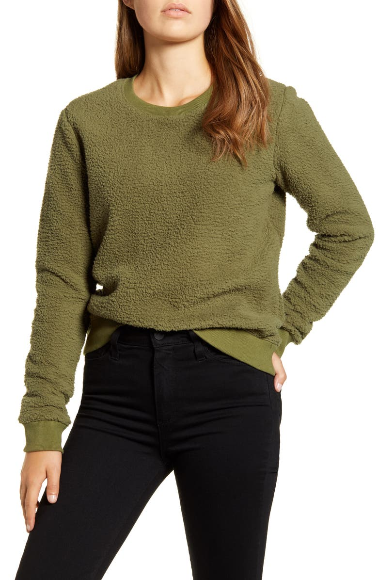 LUCKY BRAND Fleece Sweatshirt, Main, color, 330