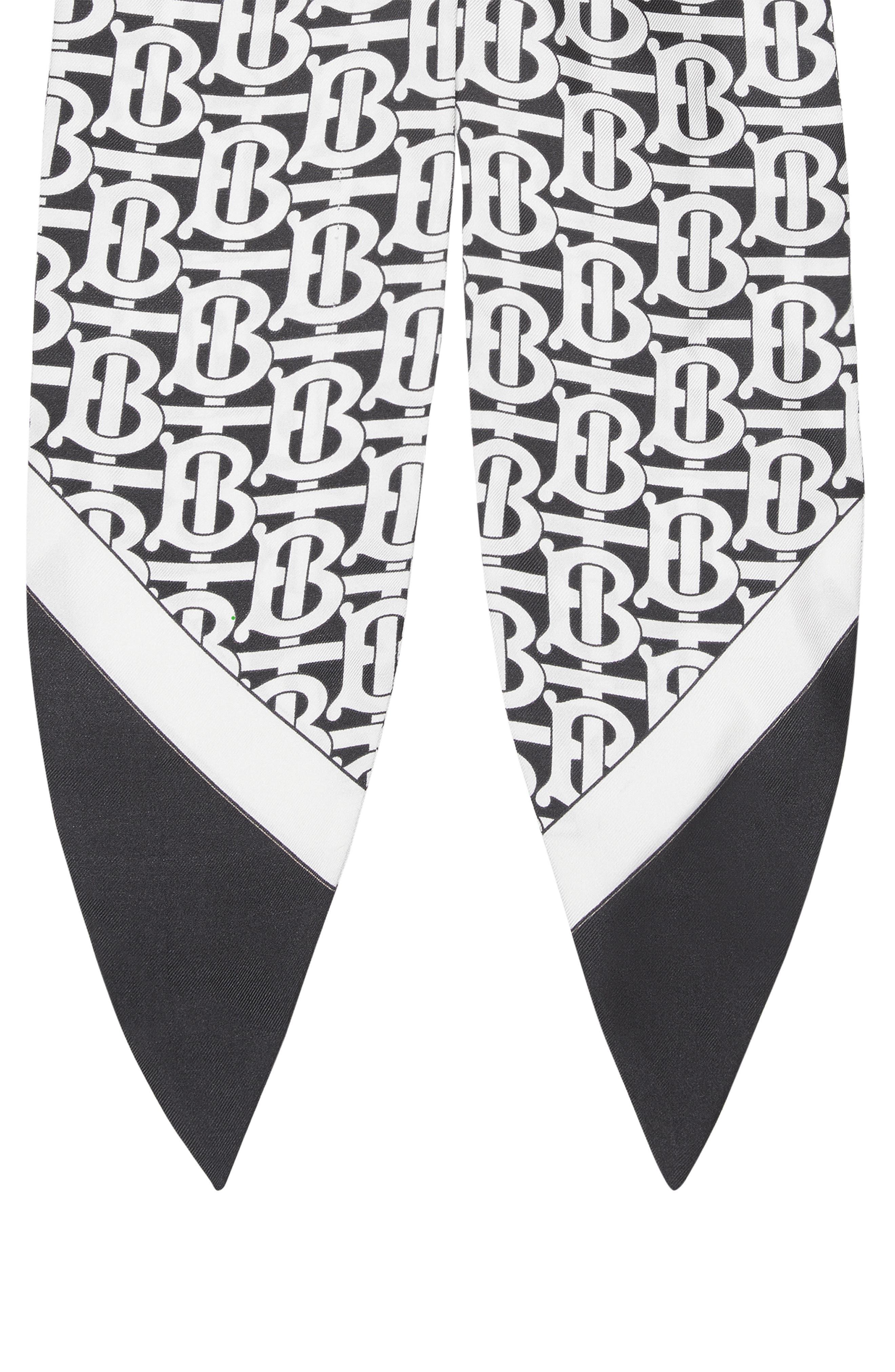 Burberry Accessories Monogram Print Silk Chignon Scarf