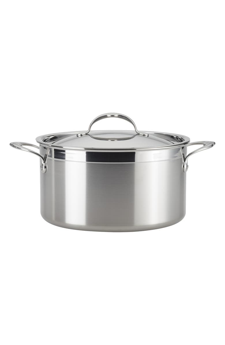 HESTAN ProBond 8-Quart Stockpot with Lid, Main, color, STAINLESS STEEL