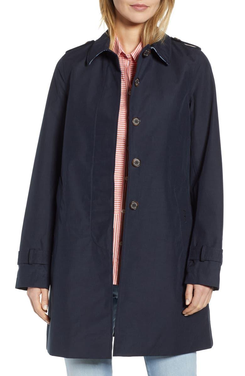 BARBOUR Laggan Waterproof Raincoat, Main, color, 410