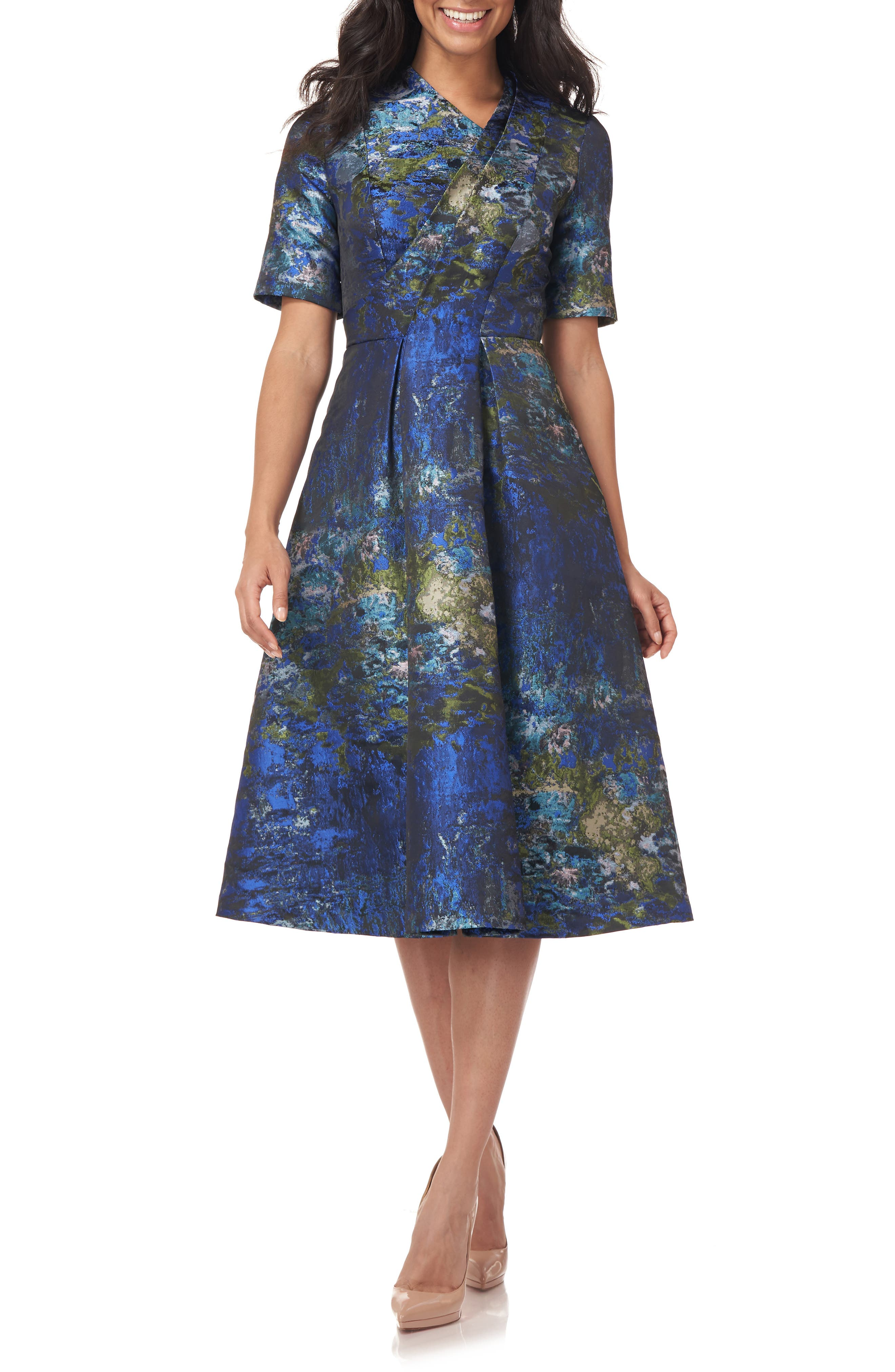 Tinsley Jacquard Midi Cocktail Dress