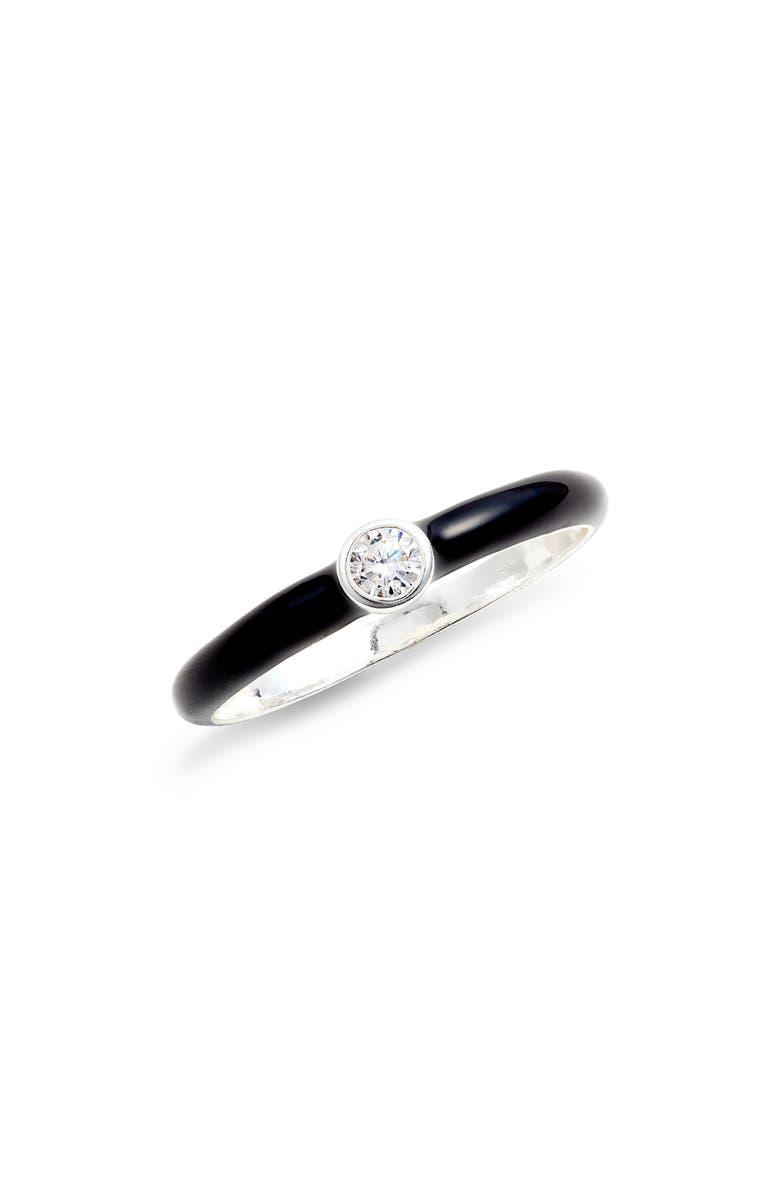 ARGENTO VIVO Crystal Enamel Ring, Main, color, 040