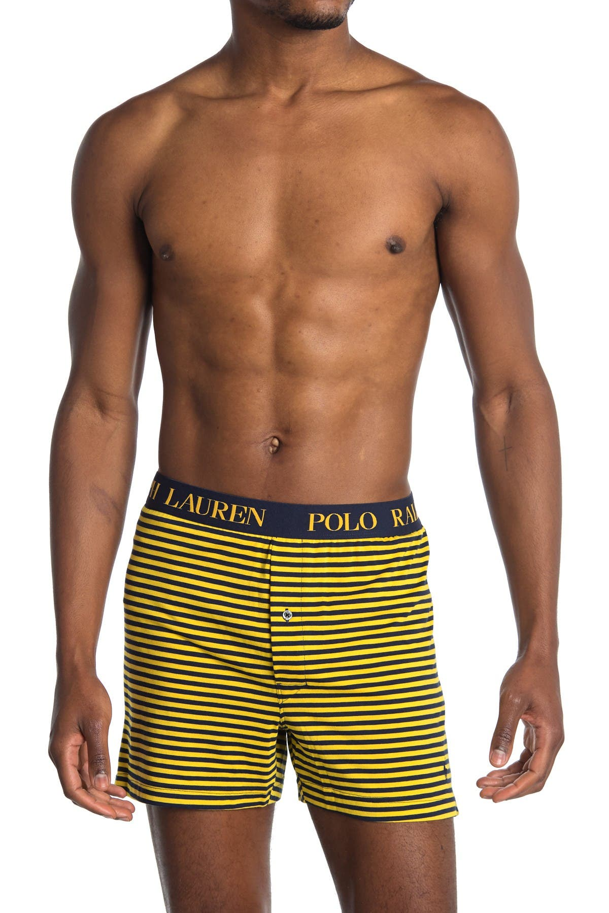 Image of Polo Ralph Lauren Stripe Print Knit Boxer