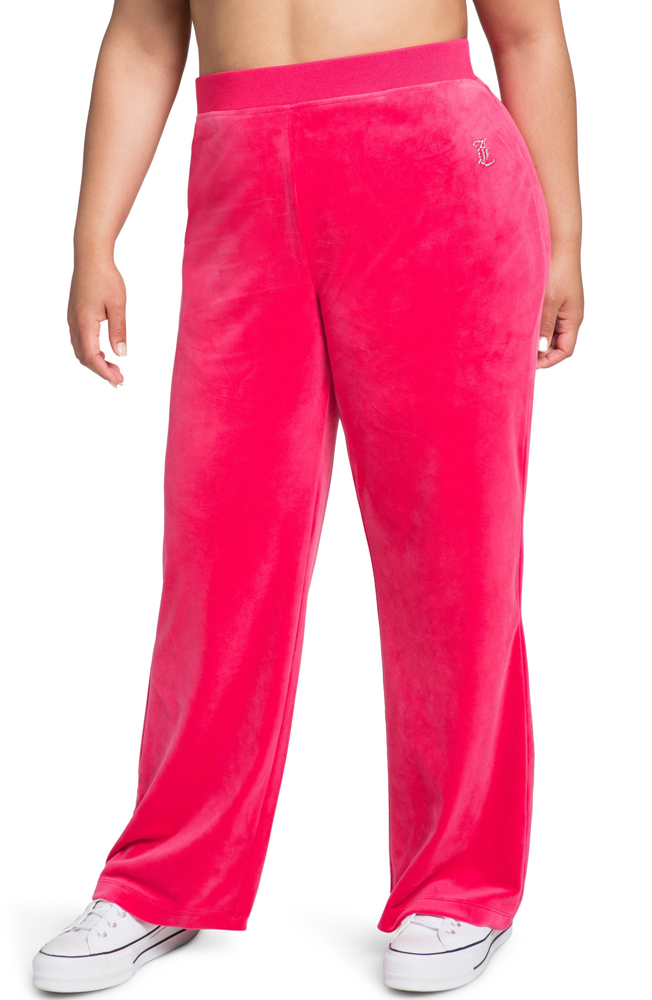 Embellished Velour Pants