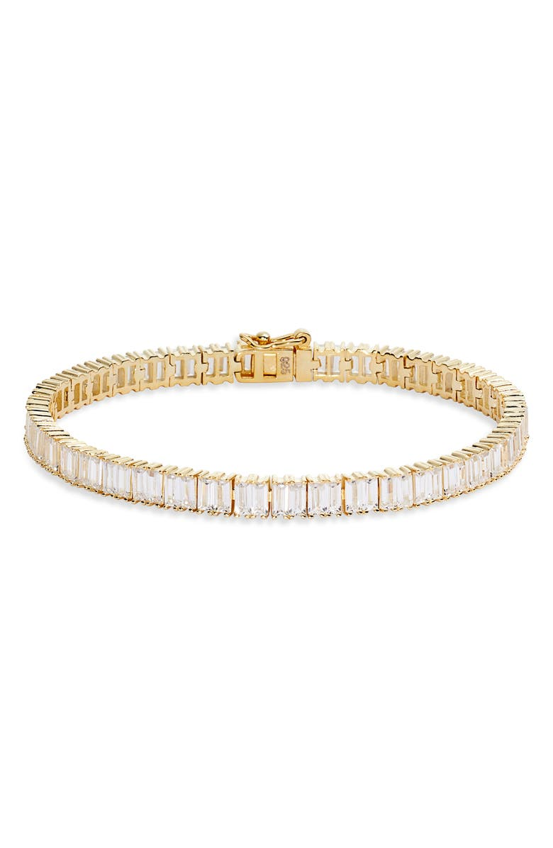 ADINA'S JEWELS Baguette Tennis Bracelet, Main, color, 710