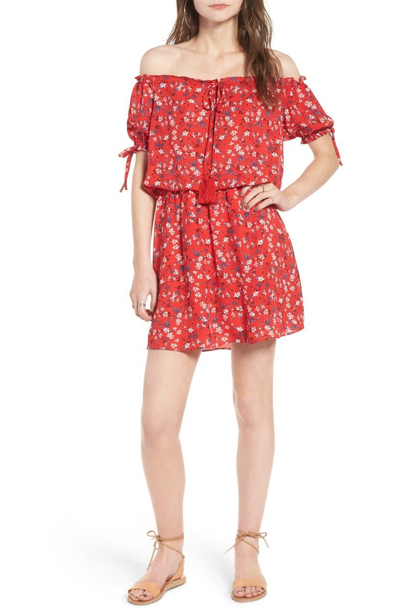 ASTR THE LABEL ASTR Gabriella Cold Shoulder Dress, Main, color, 462
